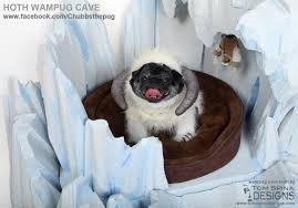 frozen ice cave custom dog bed for chubbs the wampug tom spina