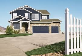 exterior design exiting exterior design with green wooden siding modern exterior design with dark blue wooden siding by lp smartside panel matched with garage doors