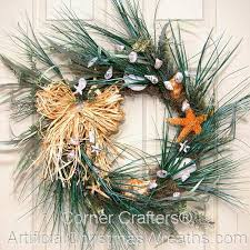 seashell wreath welcome summer sea shell wreath artificialchristmaswreaths
