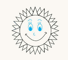 how to draw a cartoon sun easy drawing guides