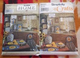 simplicity home decor simplicity 8880 8693 sunflower themed home decor items for