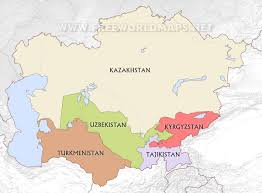 Asia Map Countries by Central Asia Maps