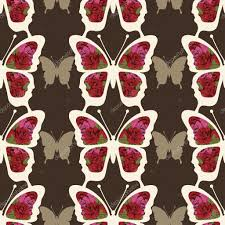 abstract butterfly with ornaments of roses flowers seamless