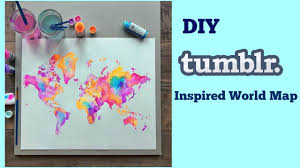 Canvas Map Of The World by Diy Inspired World Map Youtube