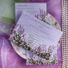 Lavender Decor Wedding Invitations Response Cards