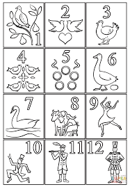 12 christmas coloring free printable coloring pages