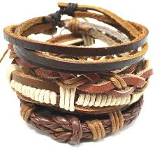 leather women bracelet images 4pcs 1 set punk genuine wrap leather bracelets men for women cuff jpg