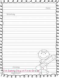 letter writing paper printable letter writing paper for grade slide5 printable pages