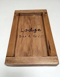 guest check presenter restaurant guest check tray personalized wood guest