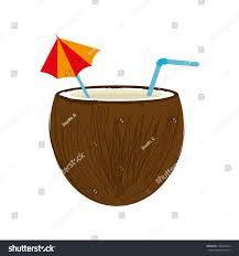 mixed drink clip art coconut cocktail drink design stock vector 476870734 shutterstock