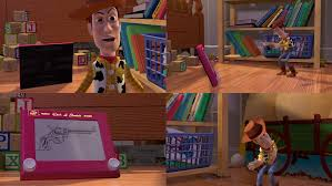 woody and etch a sketch toy story by dlee1293847 on deviantart