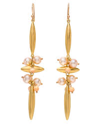 ted muehling earrings ted muehling pink pearl and shell cross earrings