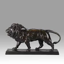 barye lion sculpture lion qui marche hickmet arts