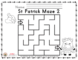 printable halloween mazes st patrick u0027s day printable mazes u2013 dorky doodles