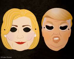 halloween president masks printable election masks creepy hillary clinton and donald