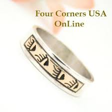 Native American Wedding Rings by Silver Gold Wedding Bands Four Corners Usa Online