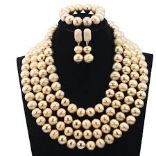 african jewelry necklace set images Buy african gold beads bridal jewelry set wedding jpg