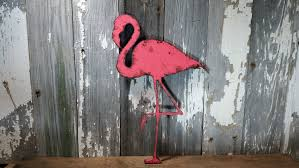flamingo sign flamingo decor rustic shabby chic wooden wall