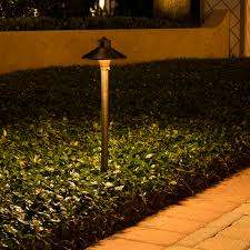 Copper Landscape Lighting Fixtures China Hat Brass Path Area Light 7 Inch Shade Volt Lighting