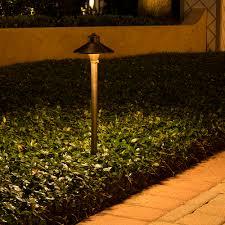 Copper Landscape Lighting Fixtures China Hat Brass Path Area Light 7 Inch Shade Volt Lighting