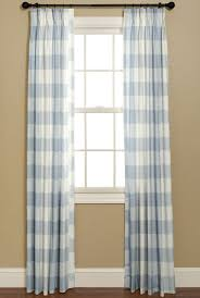 Blue Buffalo Check Curtains Chinoiserie Chic May 2012