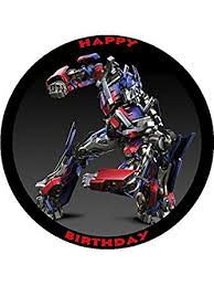 optimus prime cake topper transformers optimus prime 7 5 personalised birthday cake
