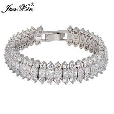 white gold jewelry bracelet images Junxin fashion crystal jewelry charm bracelet women white jpg