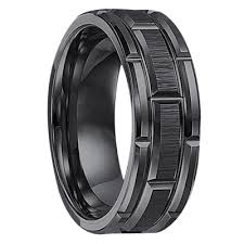 mens wedding rings triton u127bc black tunsten 8mm wedding band at mwb