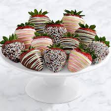 Where To Buy Chocolate Strawberries Full Dozen Gourmet Dipped Swizzled Strawberries