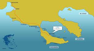Thessaloniki Greece Map by Kallithea Halkidiki Accommodation Margarita Sea Side Hotel