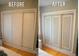 Sliding Door Closet Ideas Facelift Those Sliding Doors The Crafty Frugalista For