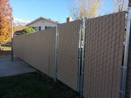 black chain link fence with privacy slats village upgrades fence