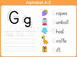 alphabet tracing worksheet writing a z stock vector colourbox
