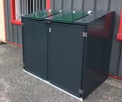 fabriquer cache poubelle crealu design pergolas et abris créations sur mesure