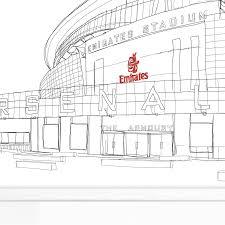 the emirates stadium arsenal signed print by simon harmer