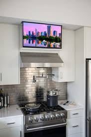 the most amazing under marvelous tv in kitchen ideas fresh home