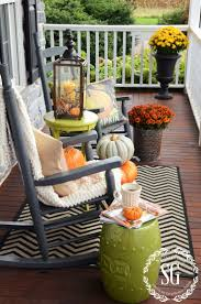 fall rocking chair vignette cozy area stonegableblog com my