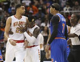 Carmelo Anthony Bench Press Carmelo Anthony Ejected After Hitting Hawks U0027 Thabo Sefolosha In Face