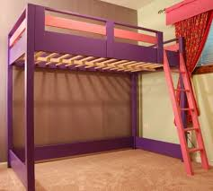bedroom design attractive purple wooden loft bed ideas