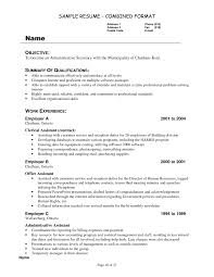 Example Summary For Resume Of Entry Level by Summary Of Skills And Qualifications Objectives Secretary Resume