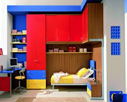 bedroom interesting red and blue bedroom design and decoration