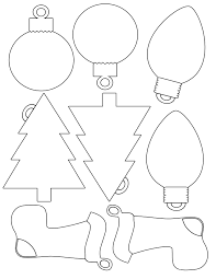 ornaments template printable pencil