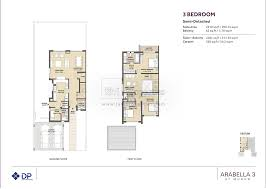 floor plans arabella townhouses dubai land by dubai properties