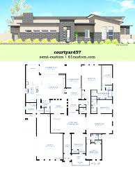 large home plans modern courtyard house plan 61custom contemporary brilliant large