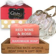 Bath Gift Sets Luxury Handmade Soap Bath Gift Set U2013 Includes Loofah U0026 Bamboo Soap