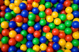 200x plastic balls for pits childrens multi coloured