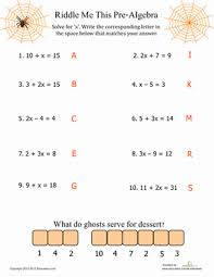 pre algebra fun algebra equations algebra and equation