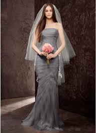 chiffon wedding dress white by vera wang strapless chiffon wedding dress david s bridal