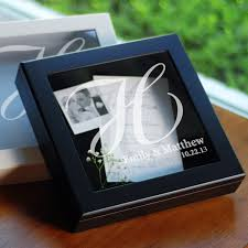 personalized box personalized wedding shadow box i like the etching on the glass