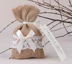 favor bag free shipping 100pcs lot rustic linen wedding favor bag